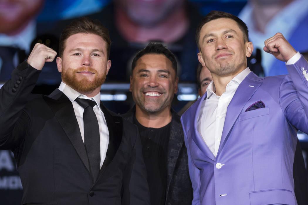 Canelo Álvarez, Óscar De La Hoya & Gennady GOlovkin