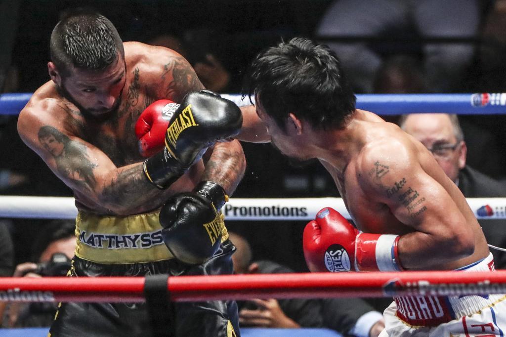 Manny Pacquiao and Lucas Matthysse boxing match in Kuala Lumpur