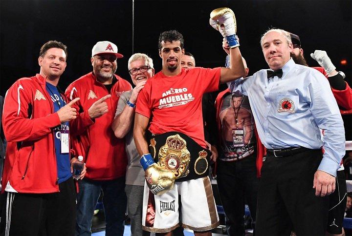"Alberto ""El Explosivo"" Machado, World Boxing Association World Super Featherweight Champion 20-0 (16 KOs)"