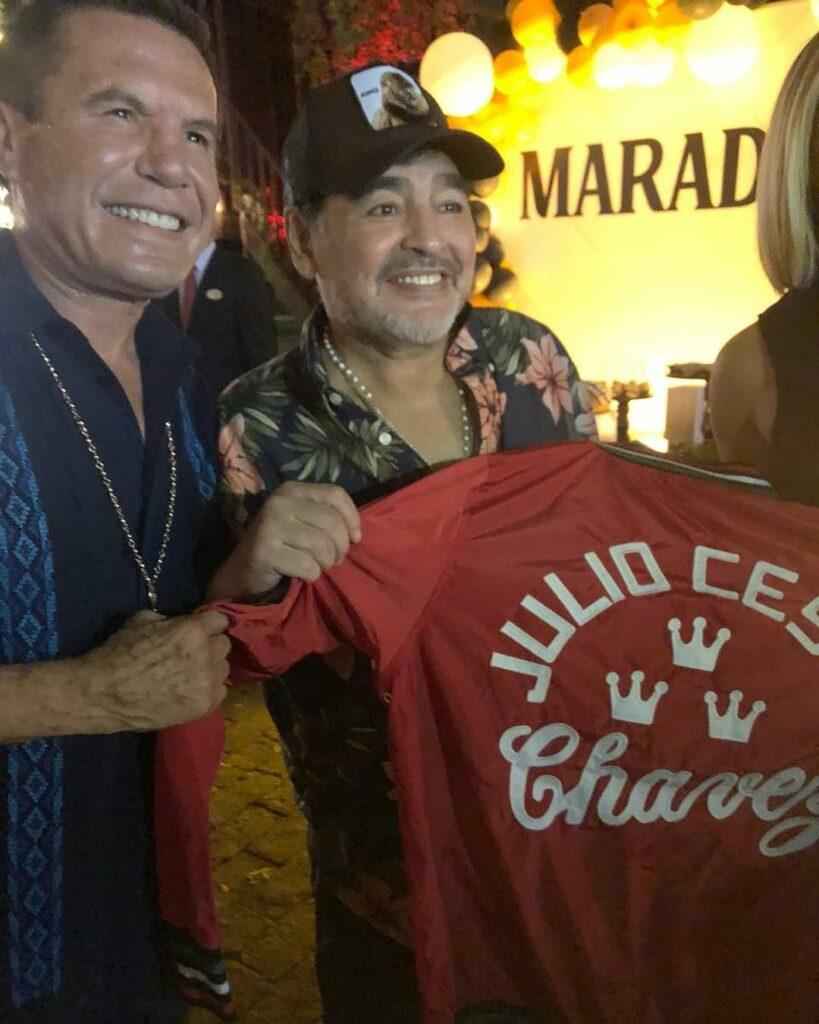Julio César Chávez y Diego Armando Maradona