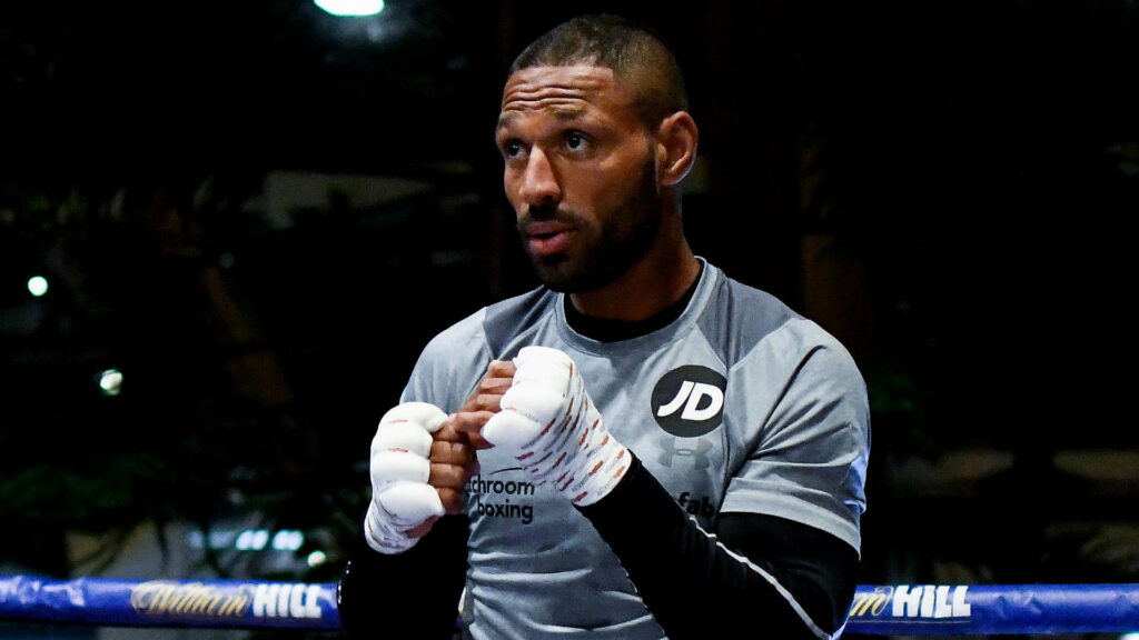 Kell Brook shadow boxing (Matchroom Boxing)