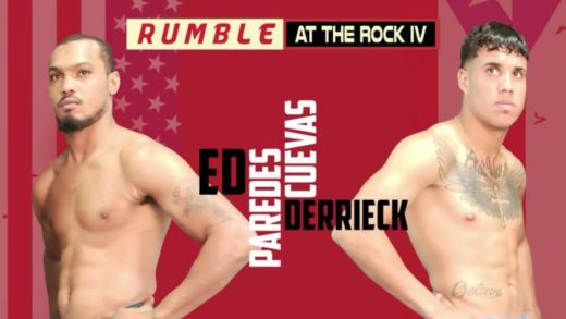 "DERRIECK CUEVAS Y ED PAREDES CADA VEZ MÁS CERCA DE PELEAR EN ""RUMBLE AT THE ROCK IV"""