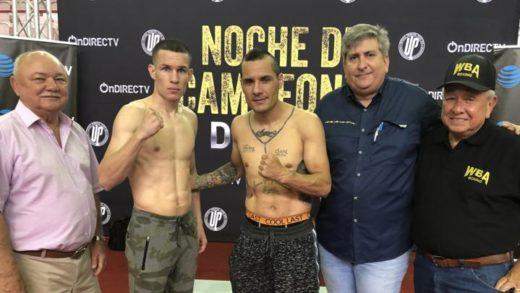 JAYSON VÉLEZ, ALBERTO MERCADO Y NESTOR BRAVO EN PESO PARA SUS PELEAS DE MAÑANA