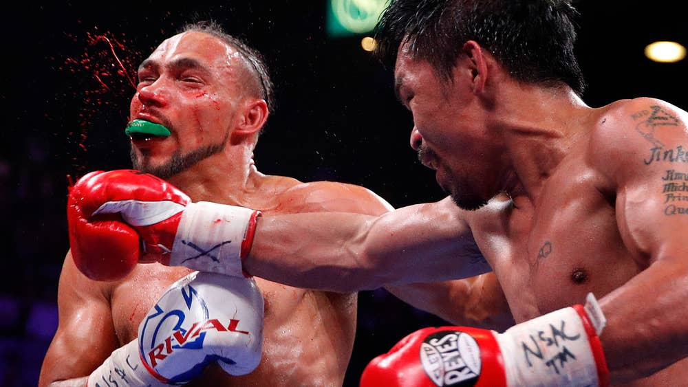 Keith Thurman & Manny Pacquiao 2 (Getty Images)