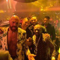 Tyson Fury, Floyd Mayweather & Joseph Parker (Photo by @gypsyking101)