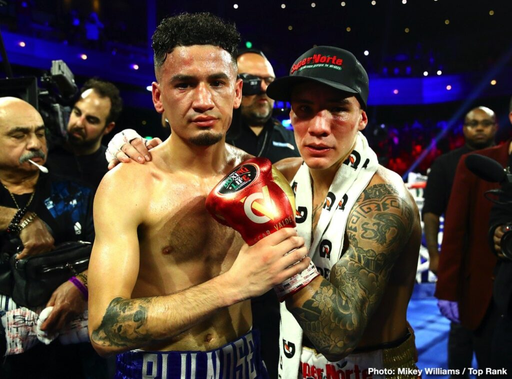 Adam López & Oscar Valdez (Mikey Williams Top Rank)