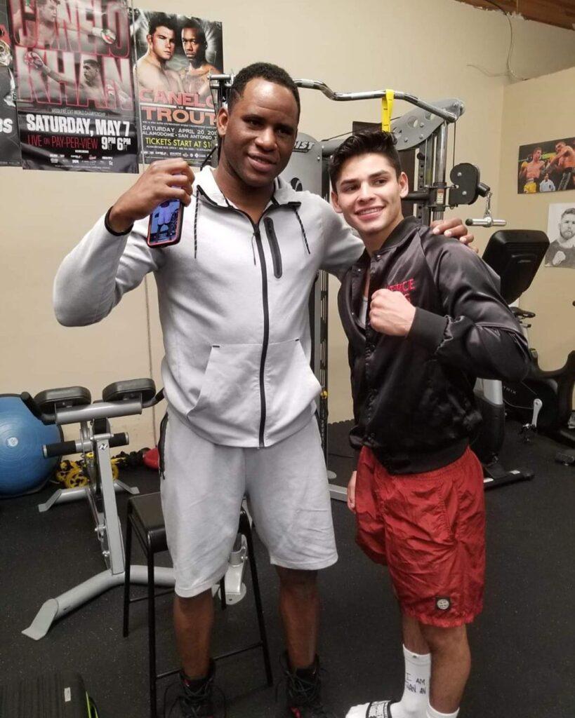 Frank Sánchez & Ryan García (Foto Cortesía @boxeocubano)