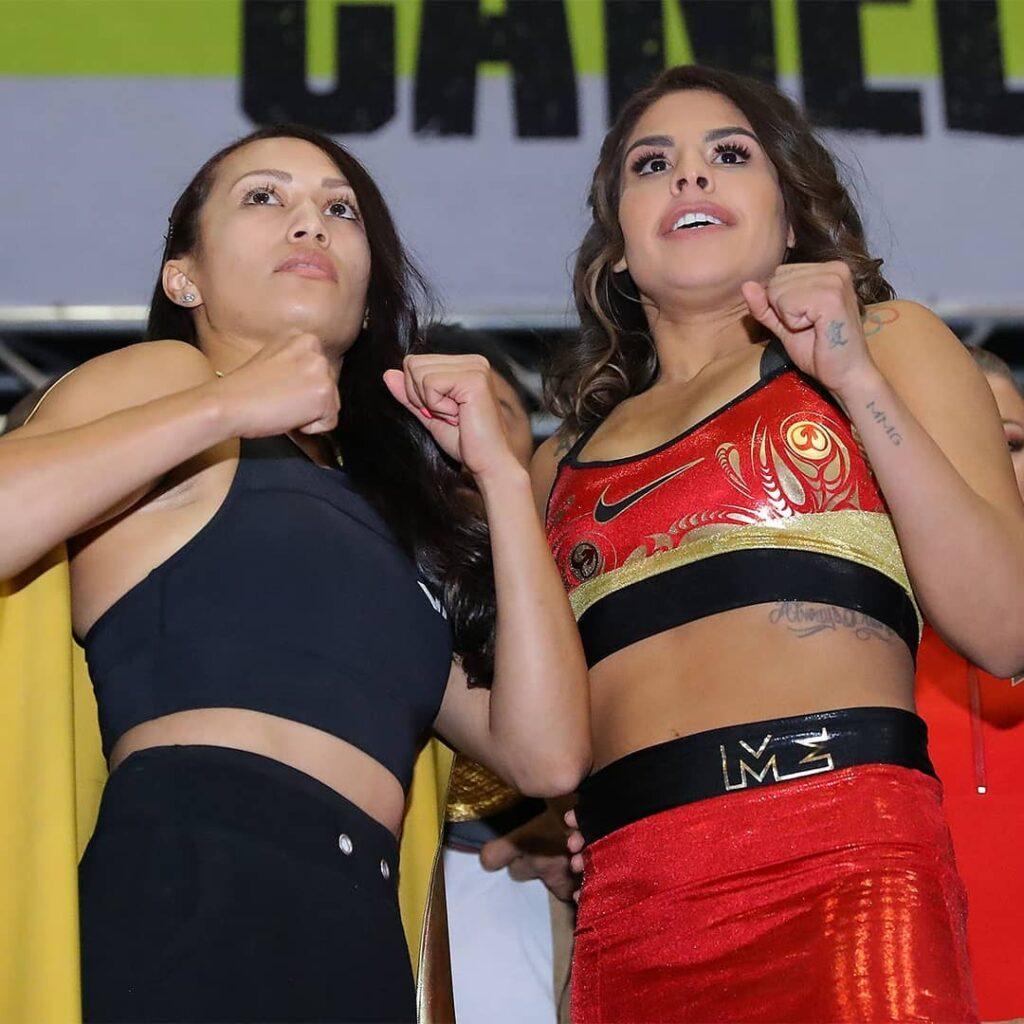 Seniesa Estrada y Marlen Esparza (Hogan Photos)