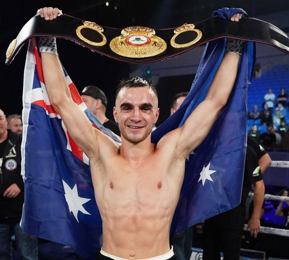 Andrew Moloney is the interim WBA world super flyweight champion! (Photo By AAP)