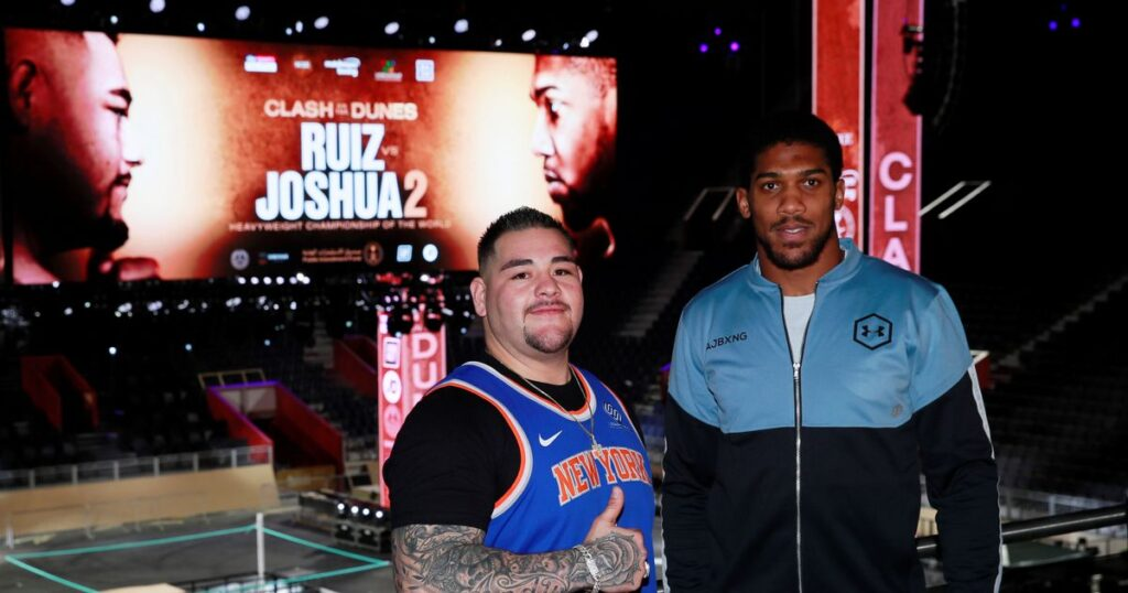 Andy Ruíz & Anthony Joshua (Photo By Mark Robinson)