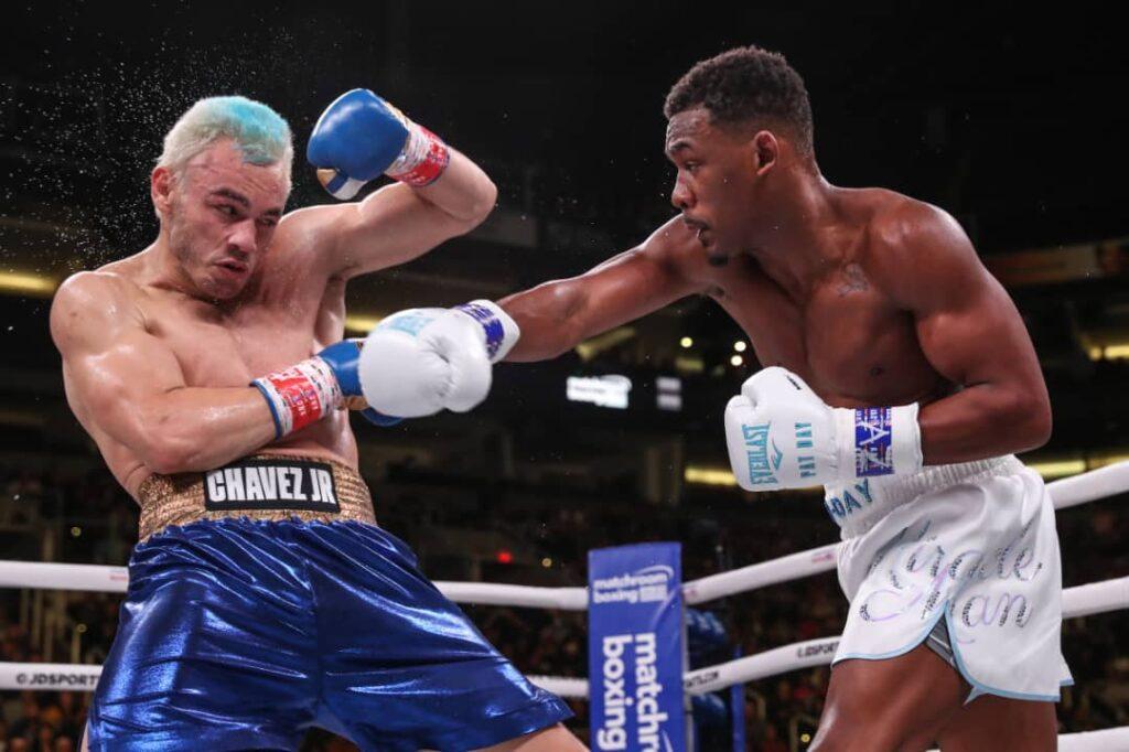 Julio César Chávez Jr ante Daniel Jacobs (Photo By: Matchroom Boxing)