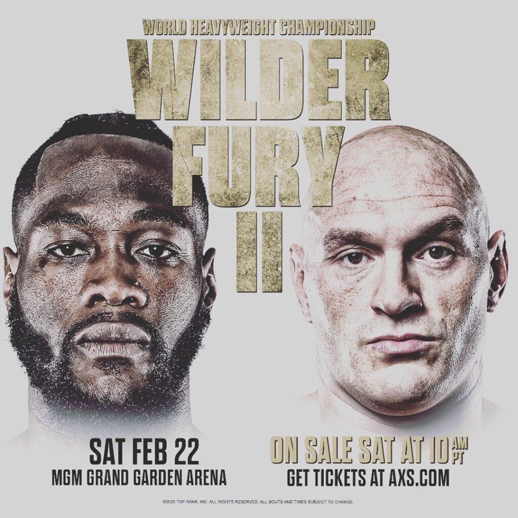Poster Deontay Wilder vs Tyson Fury II