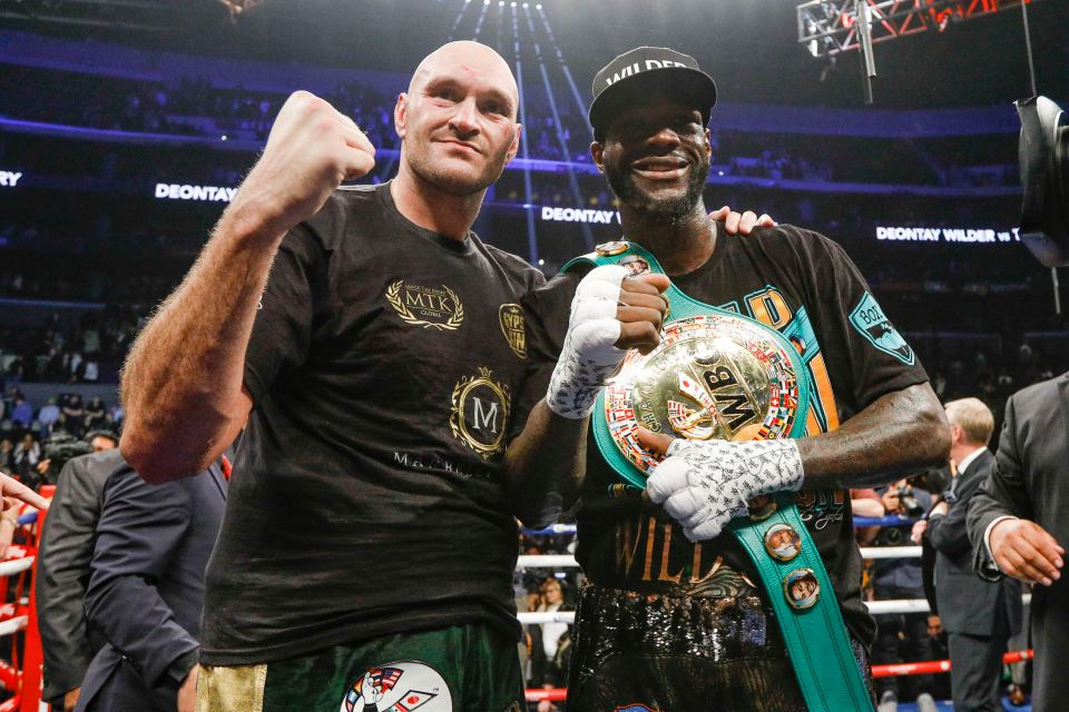 Tyson Fury & Deontay Wilder (PHOTO BY ESTHER LIN SHOWTIME)