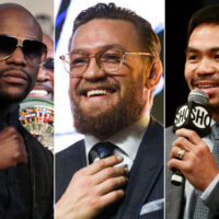 Floyd Mayweather, Conor McGregor & Manny Pacquiao (Getty Images)