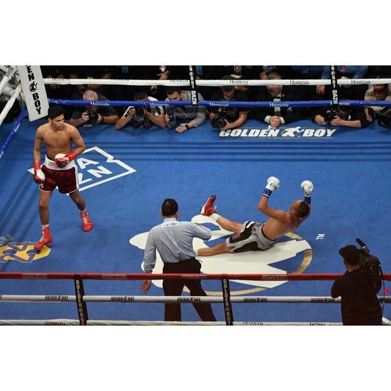 Ryan García after knocking out Francisco Fonseca (Hogan Photos)