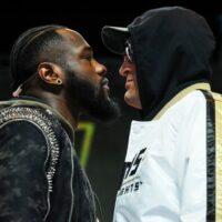 Deontay Wilder & Tyson Fury (photos by Mikey Williams, ESPN)