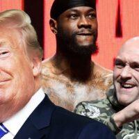 Donald Trump, Tyson Fury, Deontay Wilder (Foto Cortesía)