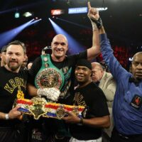 Tyson Fury & his team (Mikey Williams Top Rank)