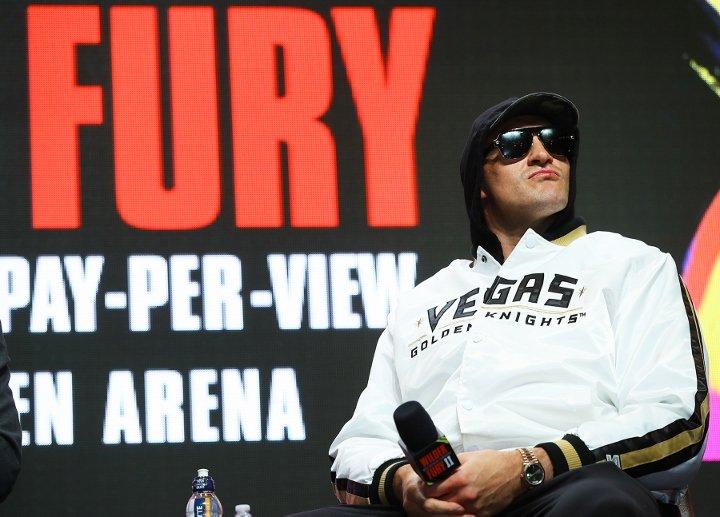 Tyson Fury (photos by Mikey Williams, ESPN)
