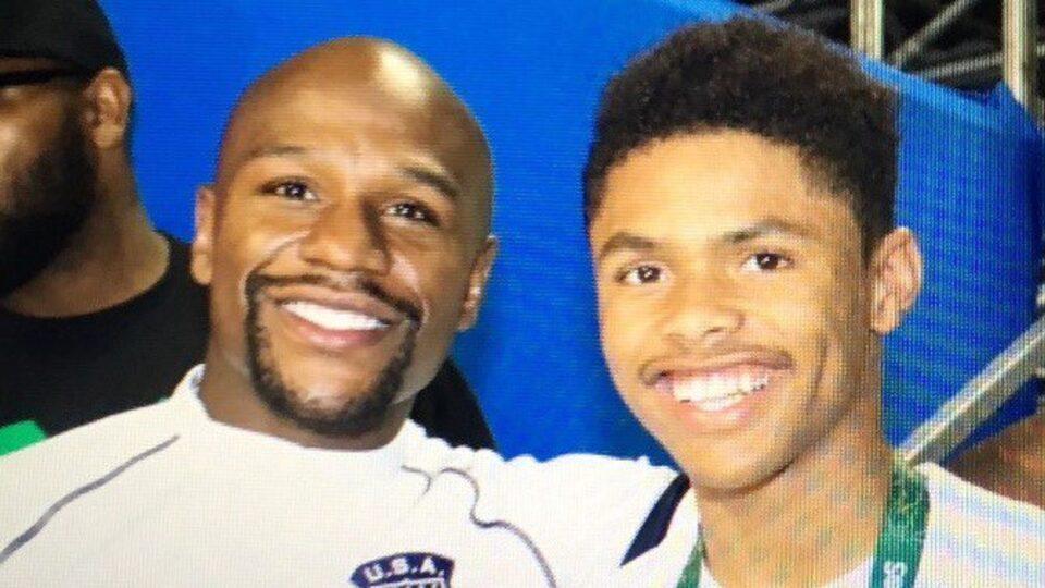 Floyd Mayweather & Shakur Stevenson (Foto Cortesía)