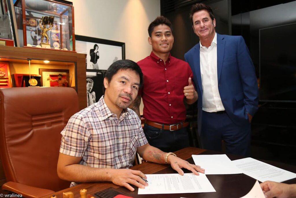 Manny Pacquiao, Mark Magsayo & Sean Gibbons (MPP Promotions)