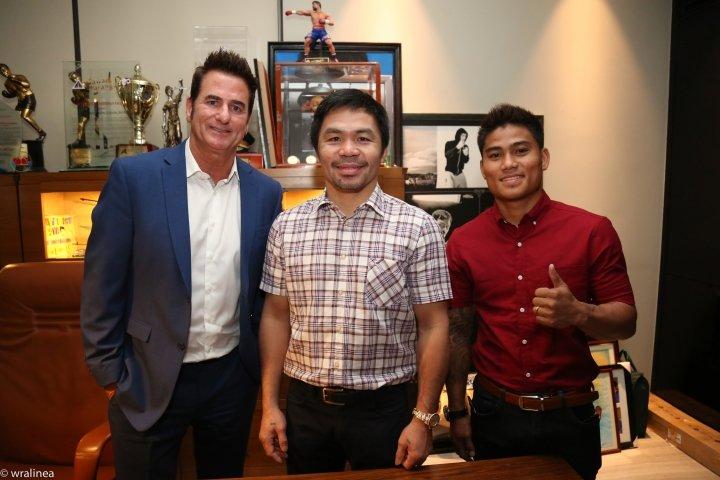 Sean Gibbons, Manny Pacquiao & Mark Magsayo (MPP Promotions)