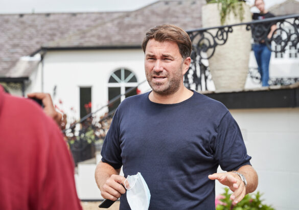 Matchroom Boxing Fight Camp 27 July 2020 Picture By Mark Robinson. Eddie Hearn checking out the matchroom Fight Camp site