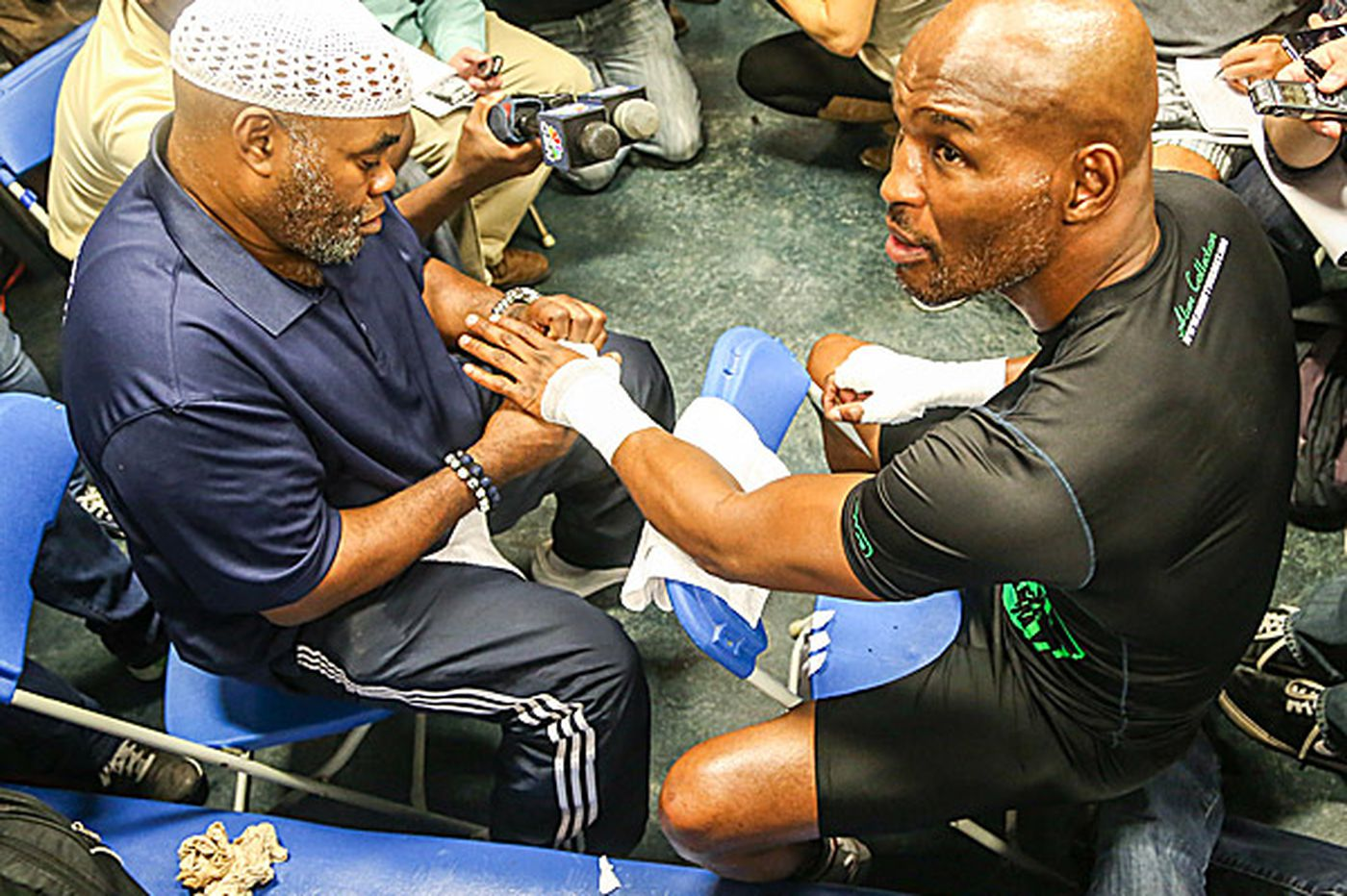 Naazim Richardson y Bernard Hopkins